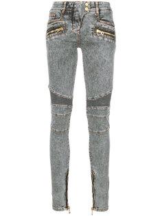 байкерские джинсы кроя слим Balmain