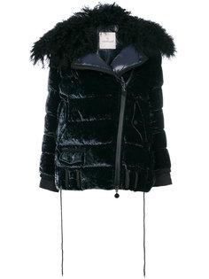 бархатная куртка-пуховик Moncler