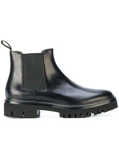 массивные ботинки-челси Santoni