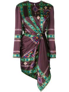 платье со сборками с принтом Etro