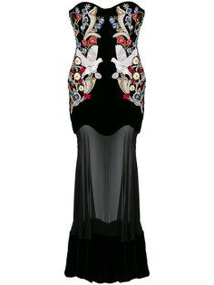платье с вышивкой в средневековом стиле Alexander McQueen