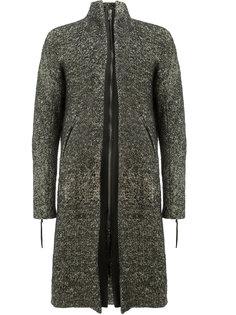 меланжевое пальто с застежкой-молнией Cedric Jacquemyn