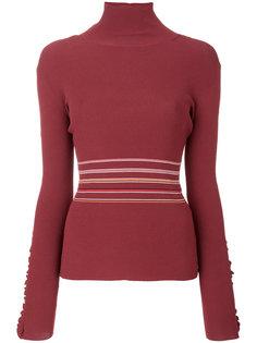 свитер с высокой горловиной и оборками Roksanda