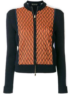джемпер с узором на молнии Versace