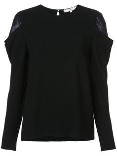 блузка с контрастными панелями на плечах Tibi