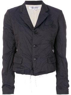 куртка с необработанным краем и полосками  Comme Des Garçons Comme Des Garçons