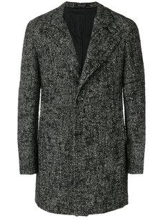 фактурное однобортное пальто Tagliatore