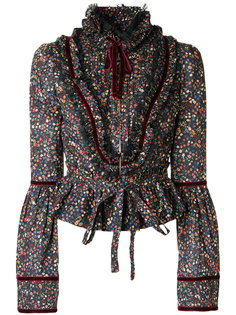 блузка с цветочным принтом  Dsquared2