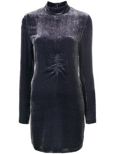 бархатное платье McQ Alexander McQueen