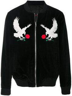 куртка-бомбер  с вышивкой орлов Intoxicated