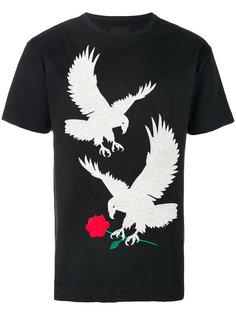 футболка с вышивкой орлов Intoxicated