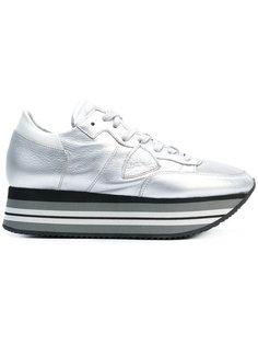 кроссовки на платформе со шнуровкой Philippe Model