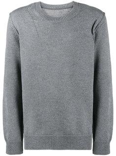 свитер с эффектом потертости Kazuyuki Kumagai