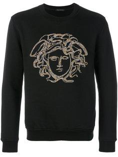 джемпер с нашивкой Medusa Versace