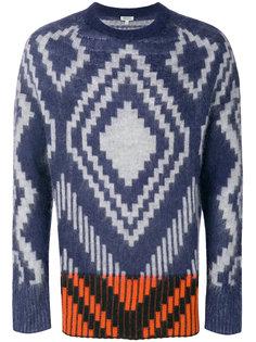 свитер с ромбовидным узором Kenzo