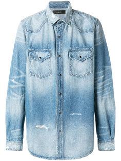 джинсовая рубашка с потертой отделкой Amiri