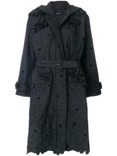 стеганое пальто с цветочной отделкой  Simone Rocha