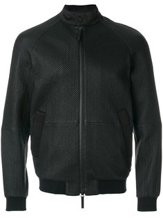 приталенная куртка с тиснением Armani Collezioni