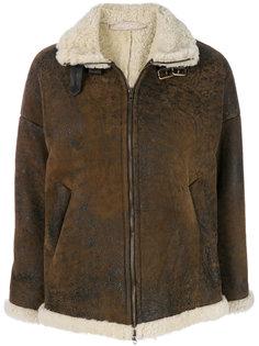 куртка из овечьей шерсти на молнии Salvatore Santoro