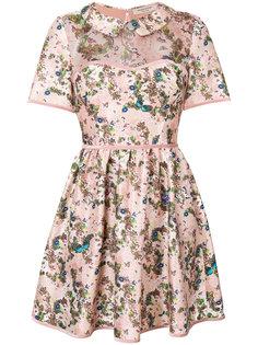 платье мини с цветочным принтом  Piccione.Piccione
