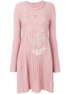 платье с вышивкой бабочек Piccione.Piccione