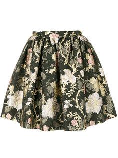 пышная мини-юбка с цветочным принтом  Piccione.Piccione