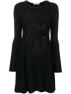 трикотажное платье с вышивкой  Piccione.Piccione