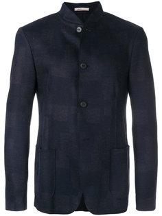 приталенный пиджак с воротником-мандарин Armani Collezioni