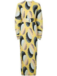 платье с принтом и поясом  Solace London