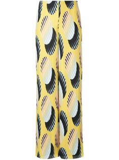 брюки с завышенной талией и принтом  Solace London