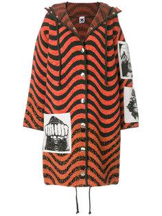 трикотажное пальто со вставками  M Missoni
