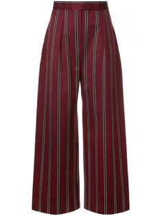 брюки с завышенной талией в полоску  Solace London