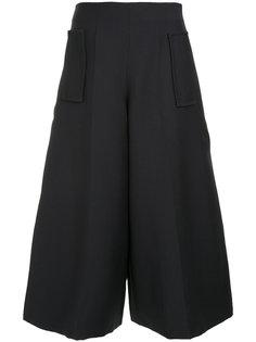 укороченная широкие брюки  Delpozo