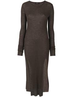 трикотажное платье миди Balmain
