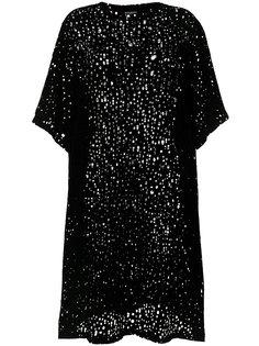 платье с рваными деталями Balmain