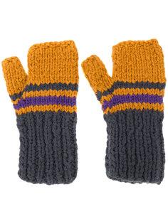 перчатки в полоску без пальцев Maison Margiela