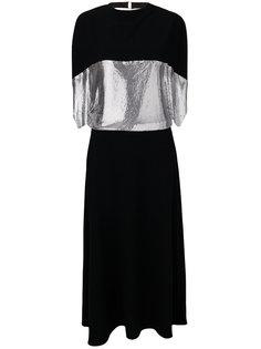 платье джерси с декором в стиле кольчуги JW Anderson