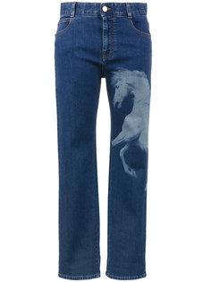 джинсы-бойфренды с принтом лошади Stella McCartney