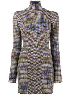 клетчатое платье-водолазка Stella McCartney