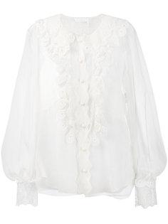 прозрачная блузка с рюшами Chloé