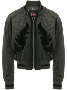 куртка-бомбер  с замшевой отделкой Haider Ackermann