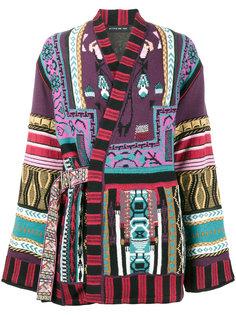 жаккардовый пиджак с запахом с миксом узоров Etro