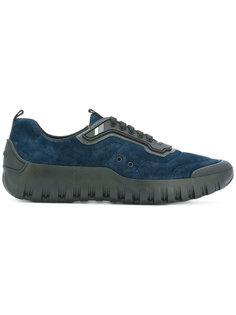 кроссовки с контрастными панелями Prada
