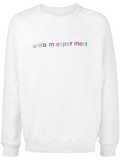 толстовка с принтом логотипа Uniform Experiment