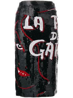 юбка La Pire Des Garces с пайетками Olympia Le-Tan