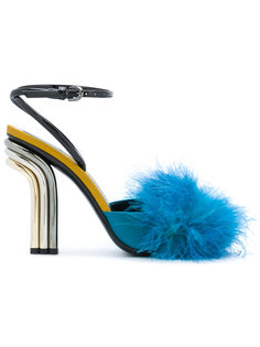 туфли с меховой деталью Marco De Vincenzo