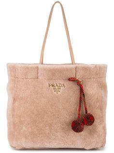 сумка-шоппер из шерсти ягненка Prada