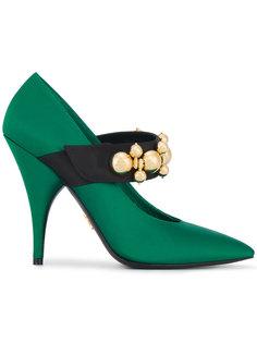 туфли-лодочки с отделкой  Prada