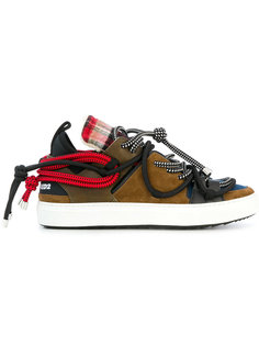 кроссовки с отделкой шнурами Dsquared2