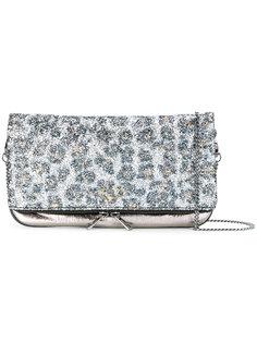 сумка через плечо с откидным клапаном с леопардовым узором Zadig & Voltaire